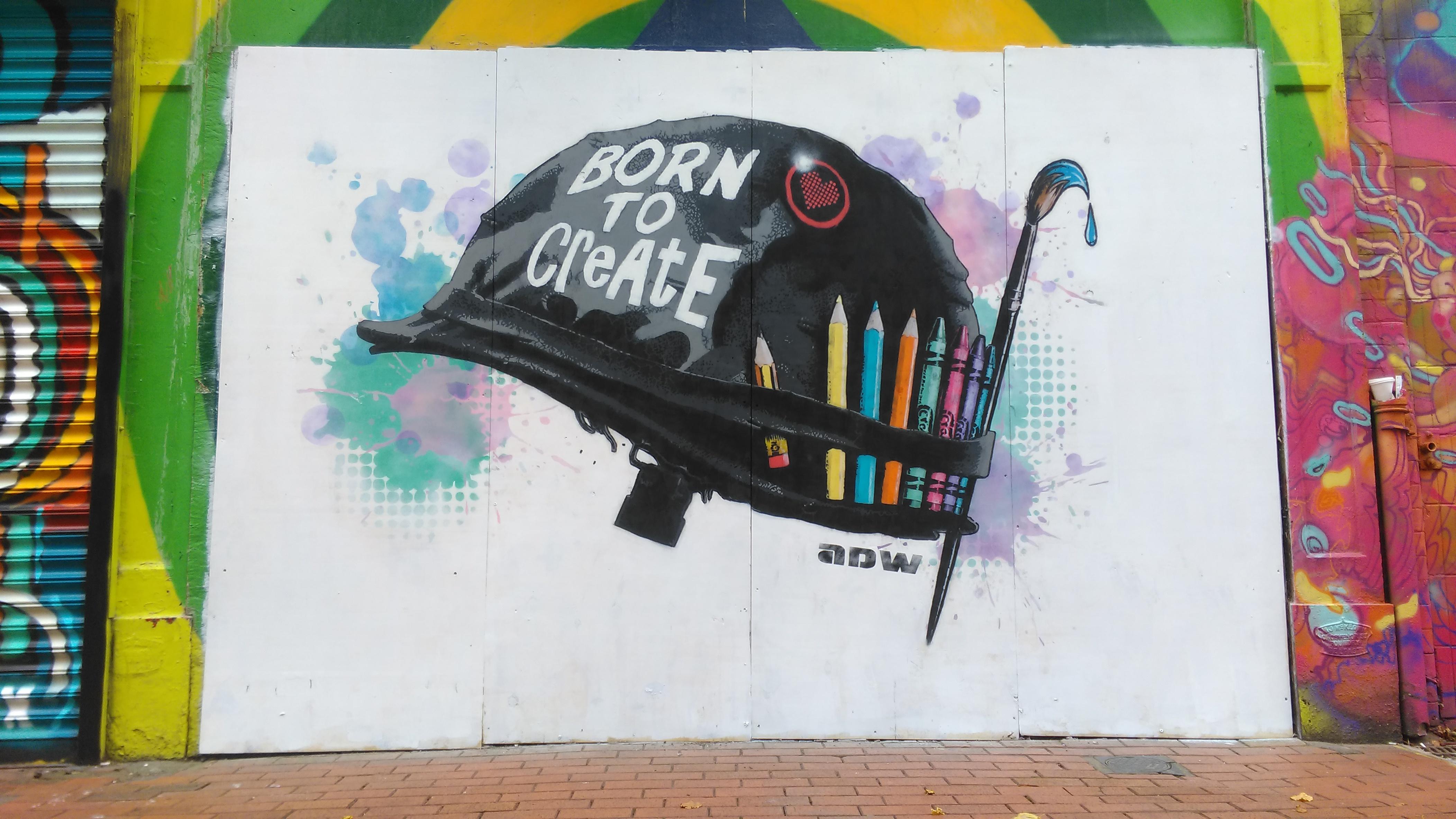 ADW stencil of Born to create